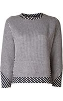Thakoon Dot Striped Sweater