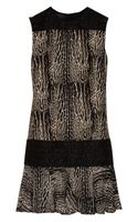 Giambattista Valli Printed Wool and Silk-Blend Dress
