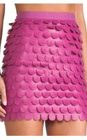 Blaque Label Scalloped Skirt in Pink - Lyst