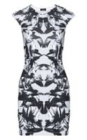 McQ by Alexander McQueen Printed Stretchcotton Dress - Lyst
