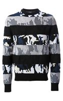 Givenchy Camouflage Paneled Sweater