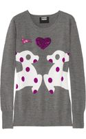 Markus Lupfer Loves Hillier Sequined Merino Wool Deer Sweater - Lyst