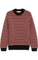 Cedric Charlier Chunky Knit Cotton Blend Sweater