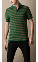 Burberry Striped Polo Shirt - Lyst