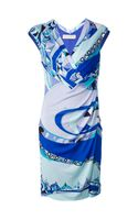Emilio Pucci Patterned Wrap Dress - Lyst