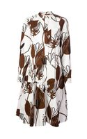 Marni Floral Print Shirt Dress - Lyst