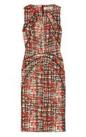 Lela Rose Printed Wool and Silkblend Dress - Lyst