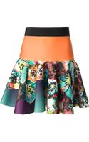 Milly Flower Printed Skirt - Lyst