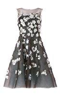 Oscar de la Renta Floral Embellished Dress - Lyst