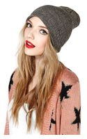 Nasty Gal So in Line Beanie - Lyst