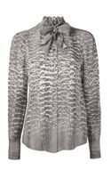 Jason Wu Snake Print Button Up Blouse