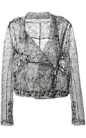 Christopher Kane Transparent Biker Jacket - Lyst