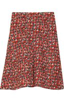 Marni Printed Stretch Flaxblend Skirt