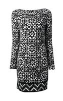 Michael by Michael Kors Geometric Print Shift Dress - Lyst