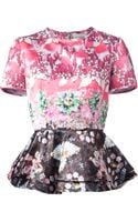 Mary Katrantzou Pompei Flared Top - Lyst