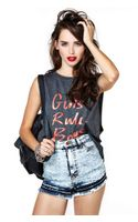 Nasty Gal Bleach Babe Cutoff Shorts