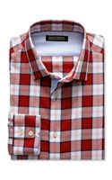 Banana Republic Tailored Slim Fit Saturated Plaid Shirt Spicy Cayenne - Lyst