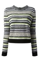 Proenza Schouler Cropped Striped Sweater - Lyst