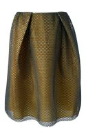 Carven Two Toned Mesh Skirt - Lyst