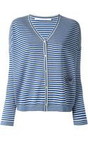 Schumacher Striped Vneck Cardigan - Lyst