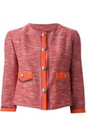 Etro Cropped Knitted Jacket - Lyst