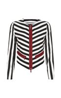 Love Moschino Striped Jacket - Lyst