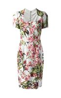 Dolce & Gabbana Floral Shift Dress - Lyst