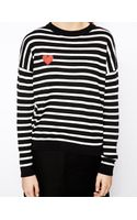 Asos Jumper in Stripe with Heart Patch