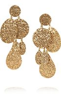 Oscar de la Renta Hammered Goldplated Clip Earrings - Lyst