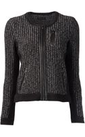Rag & Bone Leather Trim Jacket - Lyst