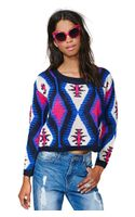 Nasty Gal Reverse Electric Tribe Sweater