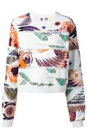 MSGM Mixed Print Sweatshirt - Lyst