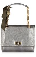 Lanvin The Happy Medium Metallic Leather Shoulder Bag