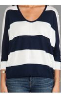 Splendid Cashmere Blend Sweater in Navy