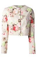 Carven Floral Embroidery Sweater - Lyst