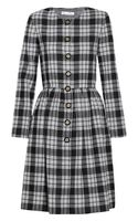 Oscar de la Renta Plaid Wool Coat - Lyst