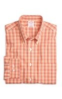 Brooks Brothers Supima Cotton Regular Fit Non Iron Tonal Check Sport Shirt