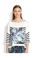Jean Paul Gaultier Nauticalprint Striped Sweater - Lyst