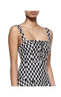 Diane Von Furstenberg Avalon Diamondprint Sleeveless Corset Top - Lyst