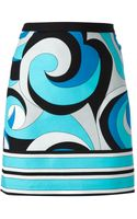 Michael by Michael Kors Swirly Print Skirt - Lyst