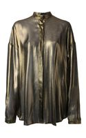 Haider Ackermann Metallic Blouse - Lyst