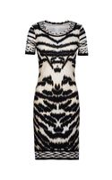 Roberto Cavalli Animal Print Short Sleeve Dress - Lyst