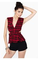 Nasty Gal School Slang Peplum Top - Lyst