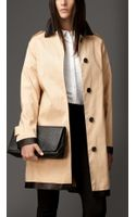 Burberry Contrast Trim Heritage Bonded Rainwear Cotton Coat - Lyst