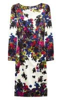 Erdem Irene Floral Print Silk Sateen Dress - Lyst
