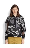3.1 Phillip Lim Geode Metallic Embroidered Chiffon Bomber Jacket - Lyst