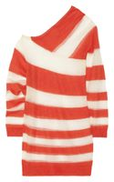 Acne Oil K Striped Openknit Mohairblend Sweater - Lyst