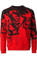 McQ by Alexander McQueen Bi Colour Printed Sweatshirt - Lyst
