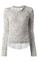 Dondup Chunky Knit Sweater - Lyst
