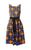 P.a.r.o.s.h. Geometric Print Flared Dress - Lyst